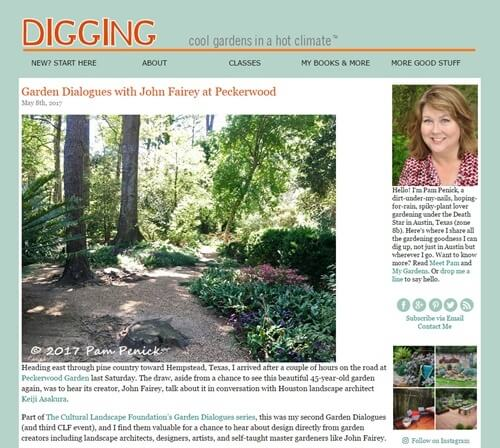 Pam Penick Digging website screenshot