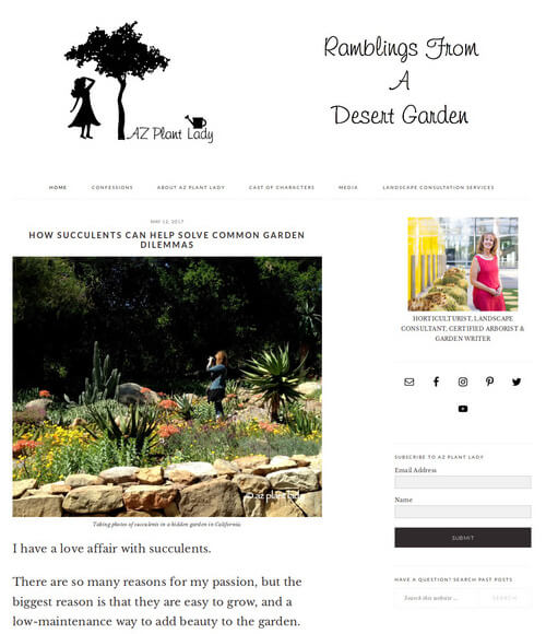 Ramblings from a Desert Garden blog