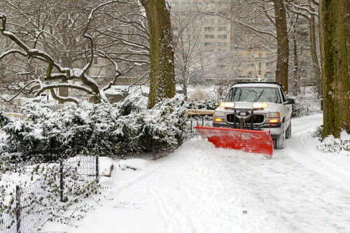truck with a snow plow