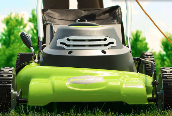 GreenWorks 25022 - the best electric lawn mower for large garden