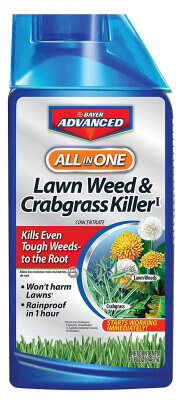 Bayer Advanced All-in-One Lawn Weed and Crabgrass Killer Concentrate
