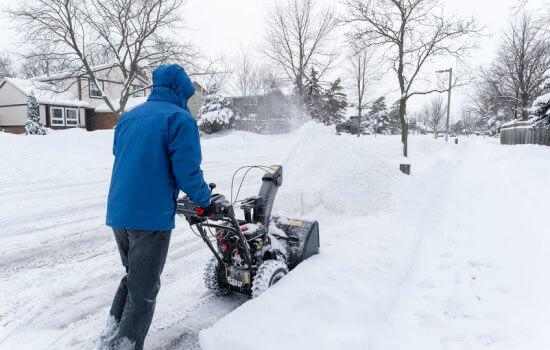 gas snow blower
