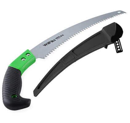 WilFiks 13-Inch Heavy Duty Curved Hand Pruning Saw