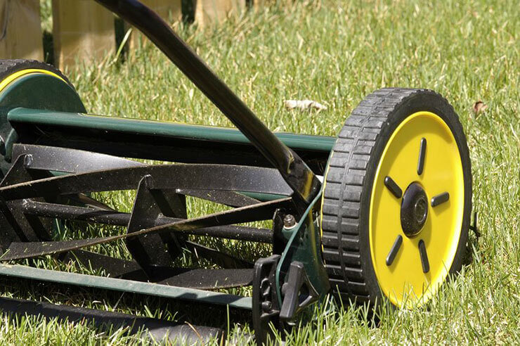 manual reel mower